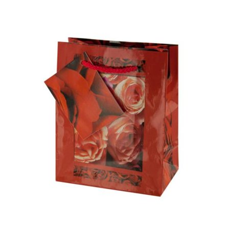 Kole Imports GB021-144 Small Red Rose Gift Bag - Pack of 144 - image 1 de 1