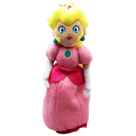 Super Mario Bros. Princess Peach Large Plush Toy With Secret Zipper Pocket (16in)