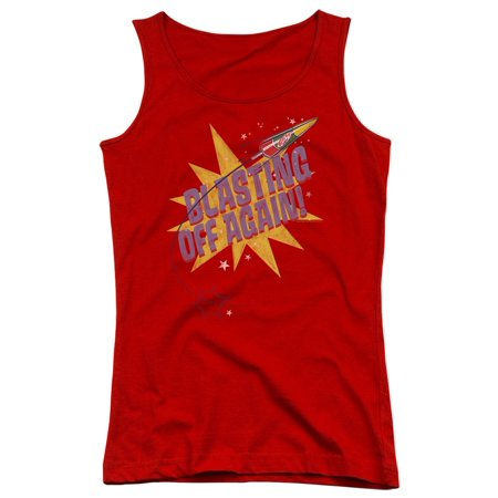 Astro Pop 1960's Rocket Pop Candy Blasting Off Again Juniors Tank Top - 1960's Halloween Candy