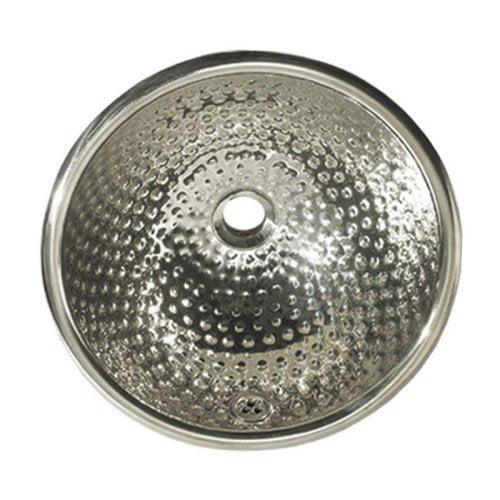 Whitehaus Collection WH602 Decorative Round Hammered Drop-In Sink