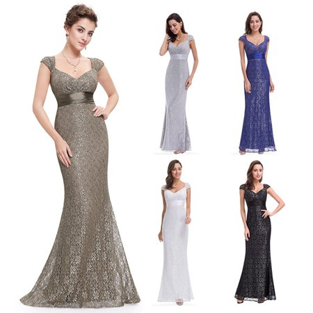 Ever-Pretty Womens Lace Summer Wedding Guest Mother of the Bride Dresses for Women 08798 Grey