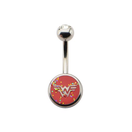 DC Comics Wonder Woman Glitter Logo Belly Button Ring ()