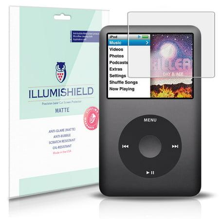 - iLLumiShield Matte Screen Protector w Anti-Glare/Print 3x for Apple iPod Classic