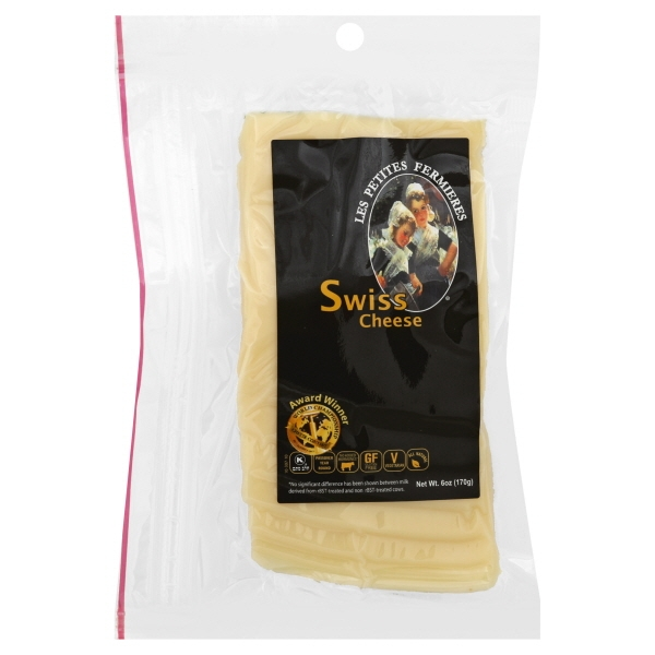 Les Petites Fermieres Sliced Swiss Cheese, 6 Oz.