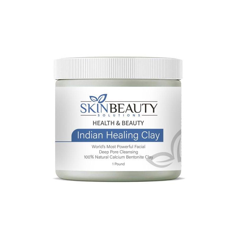Indian Healing Clay Natural Blackhead Remover And Cystic Acne Treatment Face Mask Walmart Com Walmart Com
