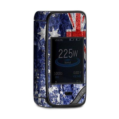 Skin Decal for Smok X-Priv Kit Vape / flag Australia grunge distressed - Priv Distressed Oil