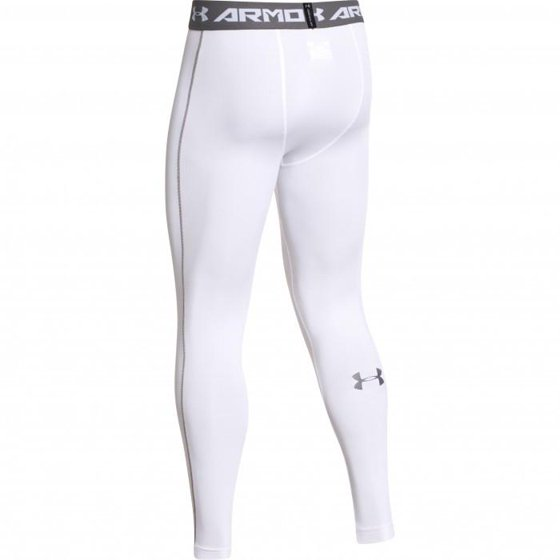 cc491e0695656 Polyester/Elastane Imported Under Armour Men's HeatGear Armour Compression  Leggings (White (100) / Graphite, Large)