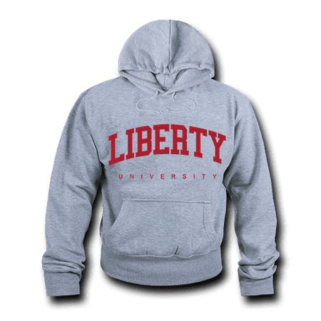 Game Day Hoody Sweatshirt - NCAA Liberty University Hoodie Sweatshirt Game Day Fleece Pullover Heather Grey Large