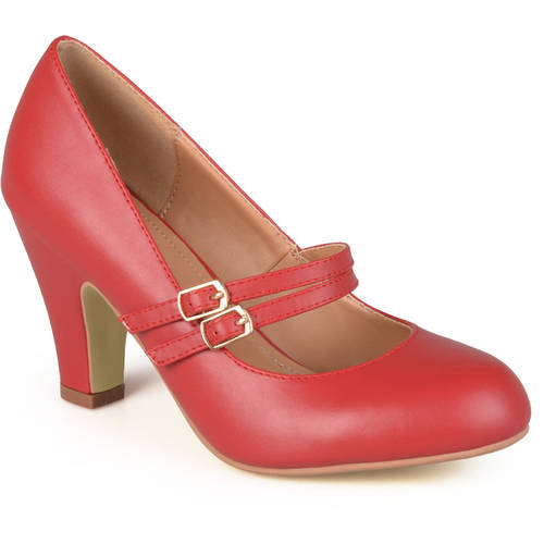 Brinley Co. Women's Matte Finish Classic Mary Jane Pumps