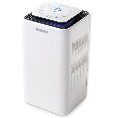 30 Pints Compressor Dehumidifier Includes Smart Touch Screen,Auto-Shut off, Whisper-Quiet Operation, Cloth drying mode, Casters, Removable Water Tank for Home Kitchen Living Room Bedroom Basement (Quest Dehumidifier)