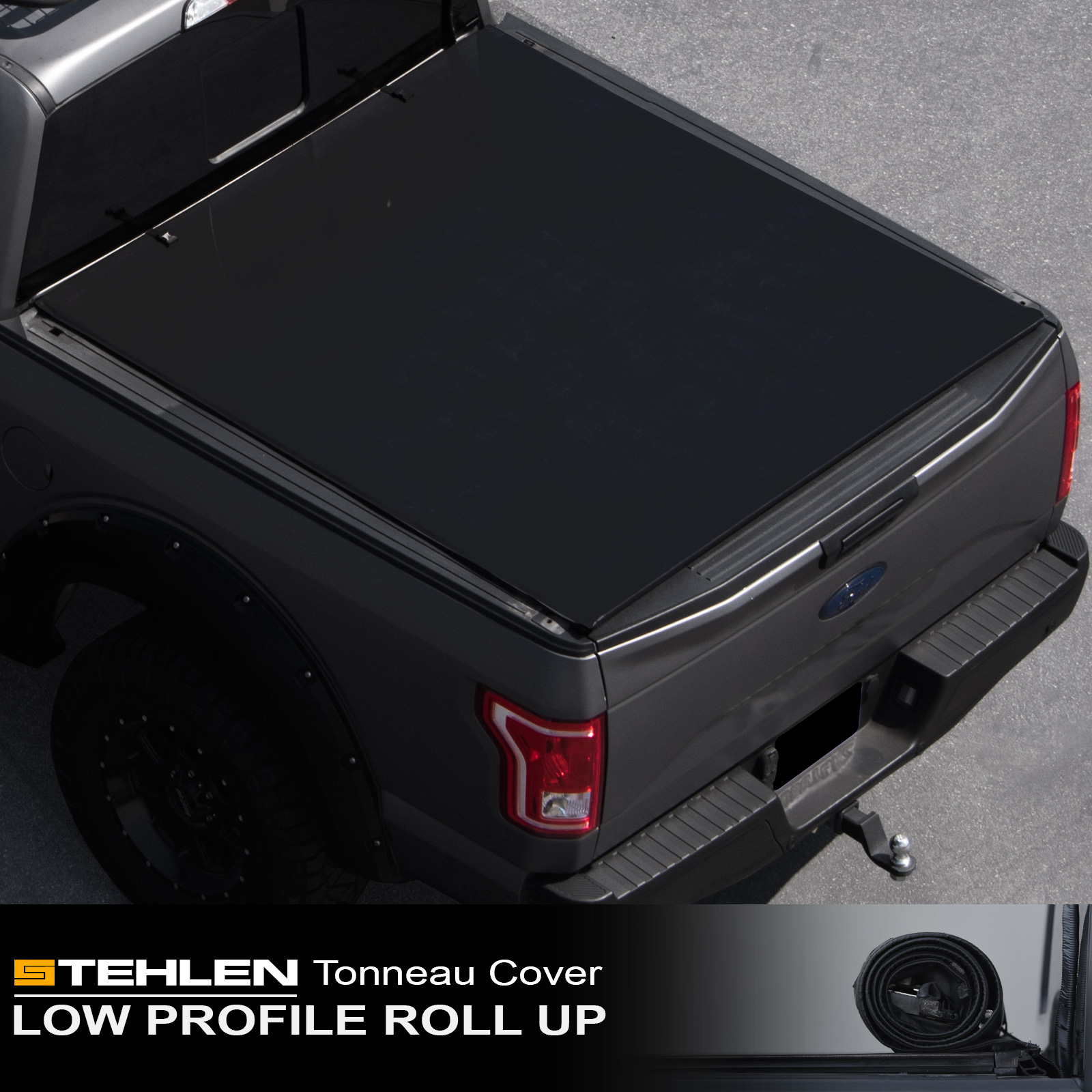 "Stehlen 714937188174 Low Profile Design Lock & Roll-Up Style Truck Bed Tonneau Cover For 09-19 Dodge Ram 1500 ; 10-19 2500 / 3500 6.4 Feet ( 76.8"" ) Bed"