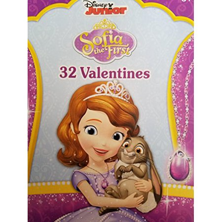 Disney Junior Sofia the First 32CT Valentine Exchange Cards (Valentine Exchange Cards)
