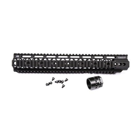 Tactical Edge WARFIGHTER 15 inch Rail System Quadrail WRS-15, Black,