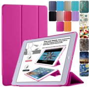 DuraSafe Cases For iPad Air 1st Generation 2013 - 9.7 Inch Slimline Series Lightweight Protective Cover with Dual Angle Stand & Froasted PC Back Shell - Pink