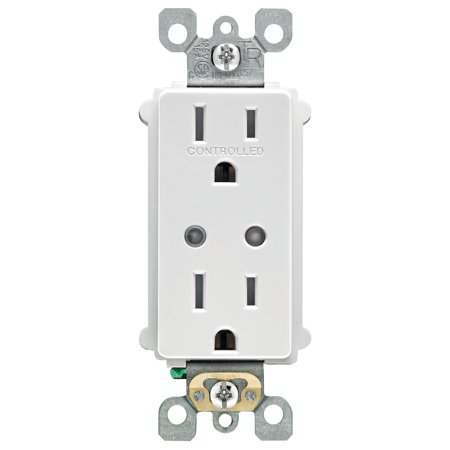 Leviton R04-DZR15-1RW 120V 15A 600W White Z-Wave Enabled Universal Switch (Universal Receptacle Kit)