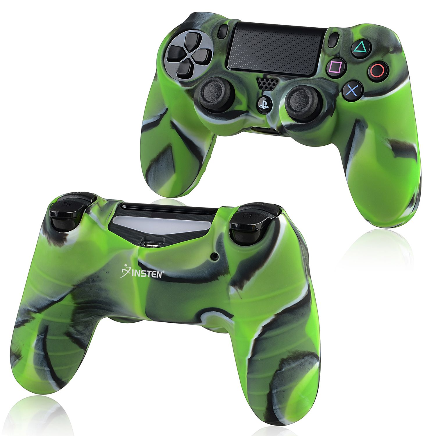 ps4 controller skin by Insten 1x Camouflage Navy Green Skin Case Cover for Sony PlayStation 4 PS4