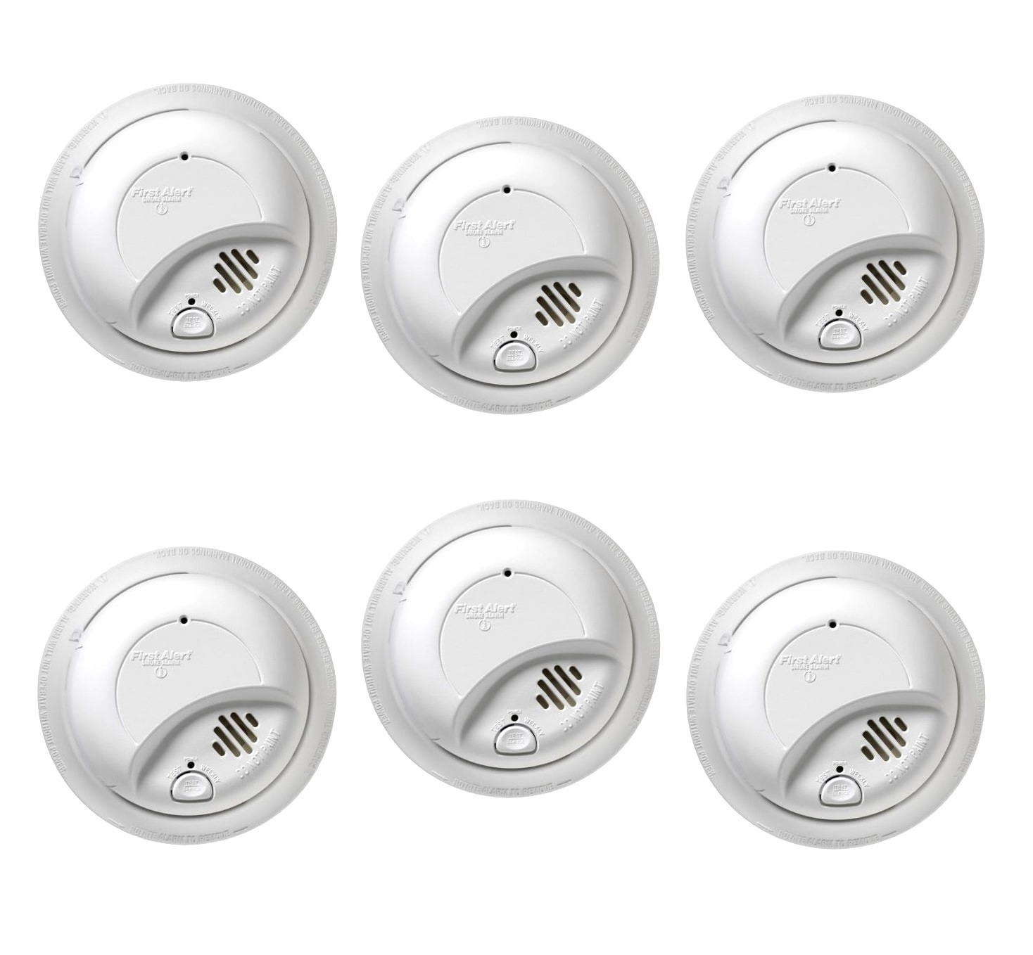 First Alert Hardwired Smoke Alarm with Battery Backup 6 PACK