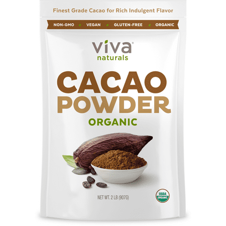 Viva Naturals Organic Cacao Powder, 2.0 Lb (Best Cacao In The World)