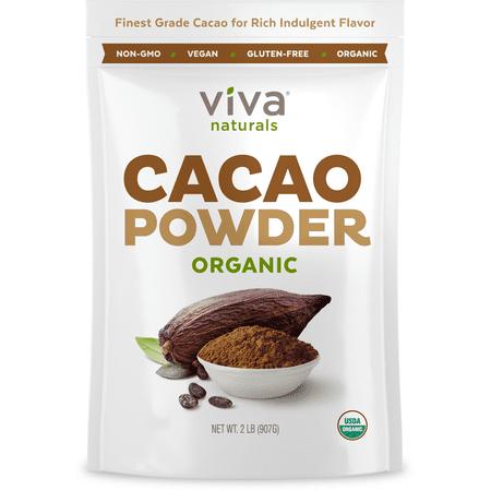 Viva Naturals Organic Cacao Powder, 2.0 Lb