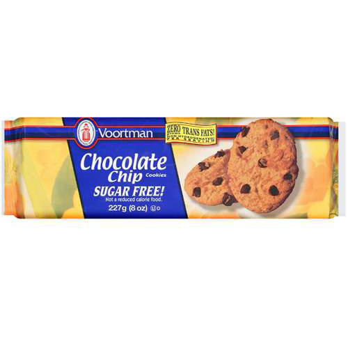 Voortman Sugar Free Chocolate Chip Cookies, 8 oz