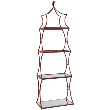 Metal Etagere Display Shelf