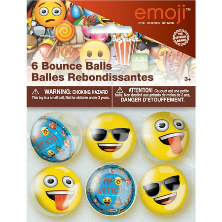 Emoji Bouncy Ball Party Favors  6Ct