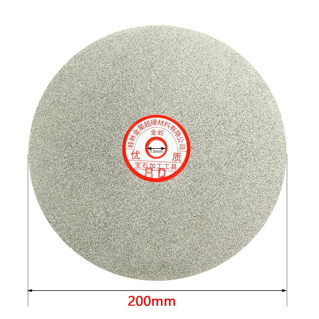 YaeGarden 8 Inch Grit 100 Diamond Coated Flat Lap Wheel Grinding Sanding Polishing Disc for Jewelry Stone /& Granite Rock Glass