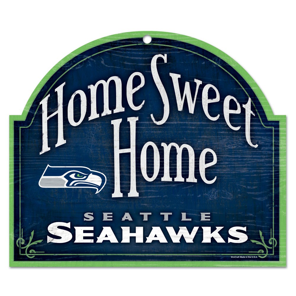 Seattle Seahawks Official NFL 10 inch x 11 inch  Wood Sign by Wincraft