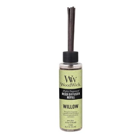 Woodwick Candle Reed Diffuser Refill 4 Oz. - Willow (Wood Wick Reed Diffuser Refill)