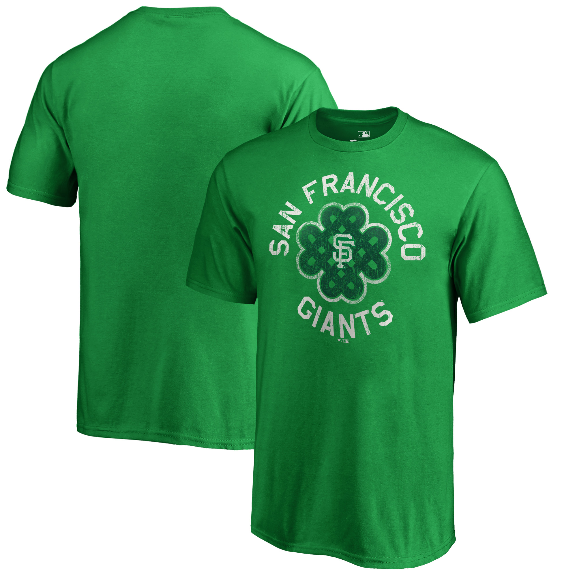San Francisco Giants Fanatics Branded Youth St. Patrick's Day Luck Tradition T-Shirt - Kelly Green