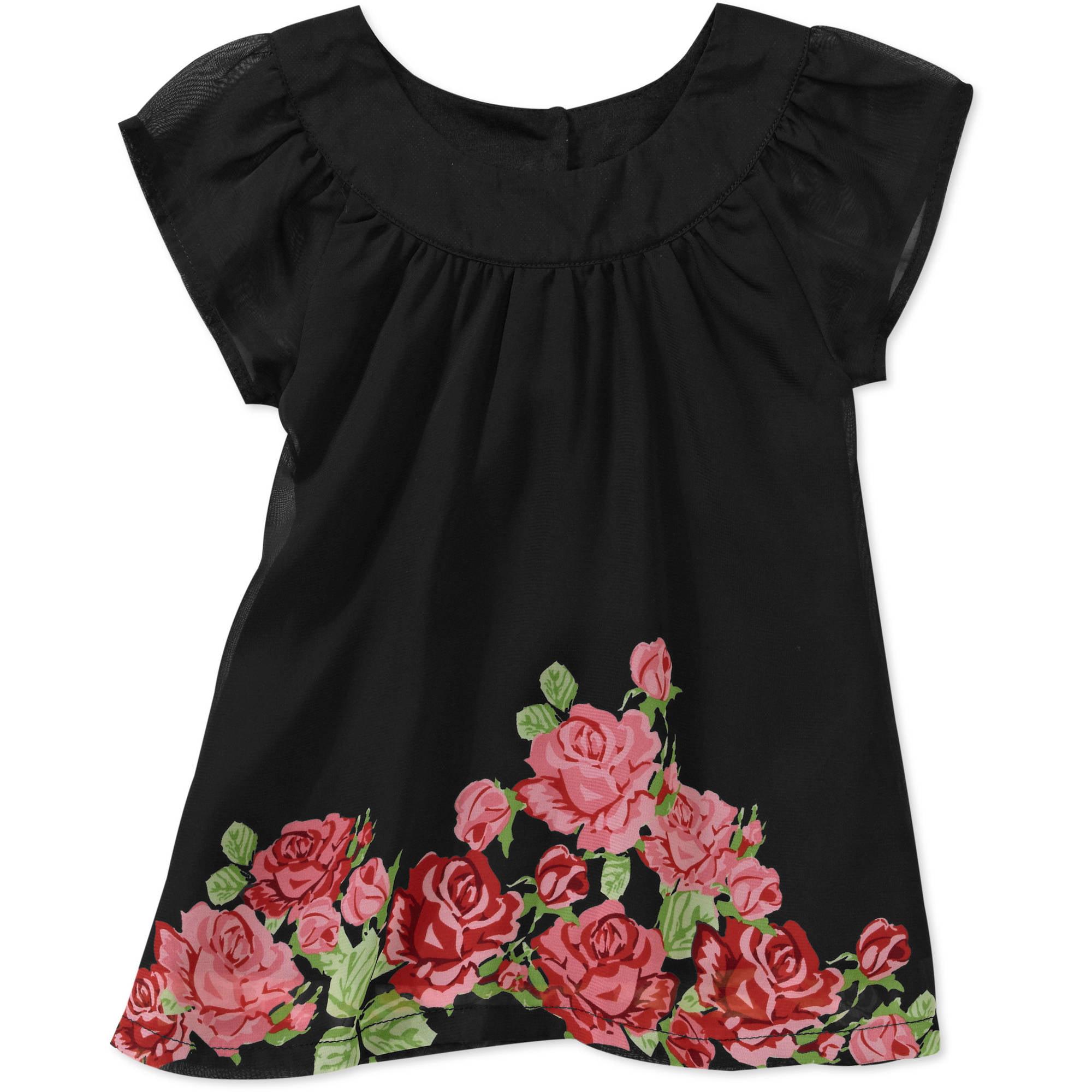 George Baby Girls' Floral Chiffon Print Dress
