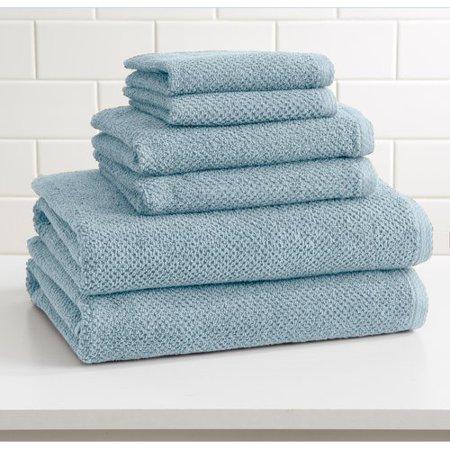 alwyn home marin 6 piece cotton bath towel set. Black Bedroom Furniture Sets. Home Design Ideas