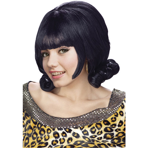 Black Flip Adult Halloween Wig