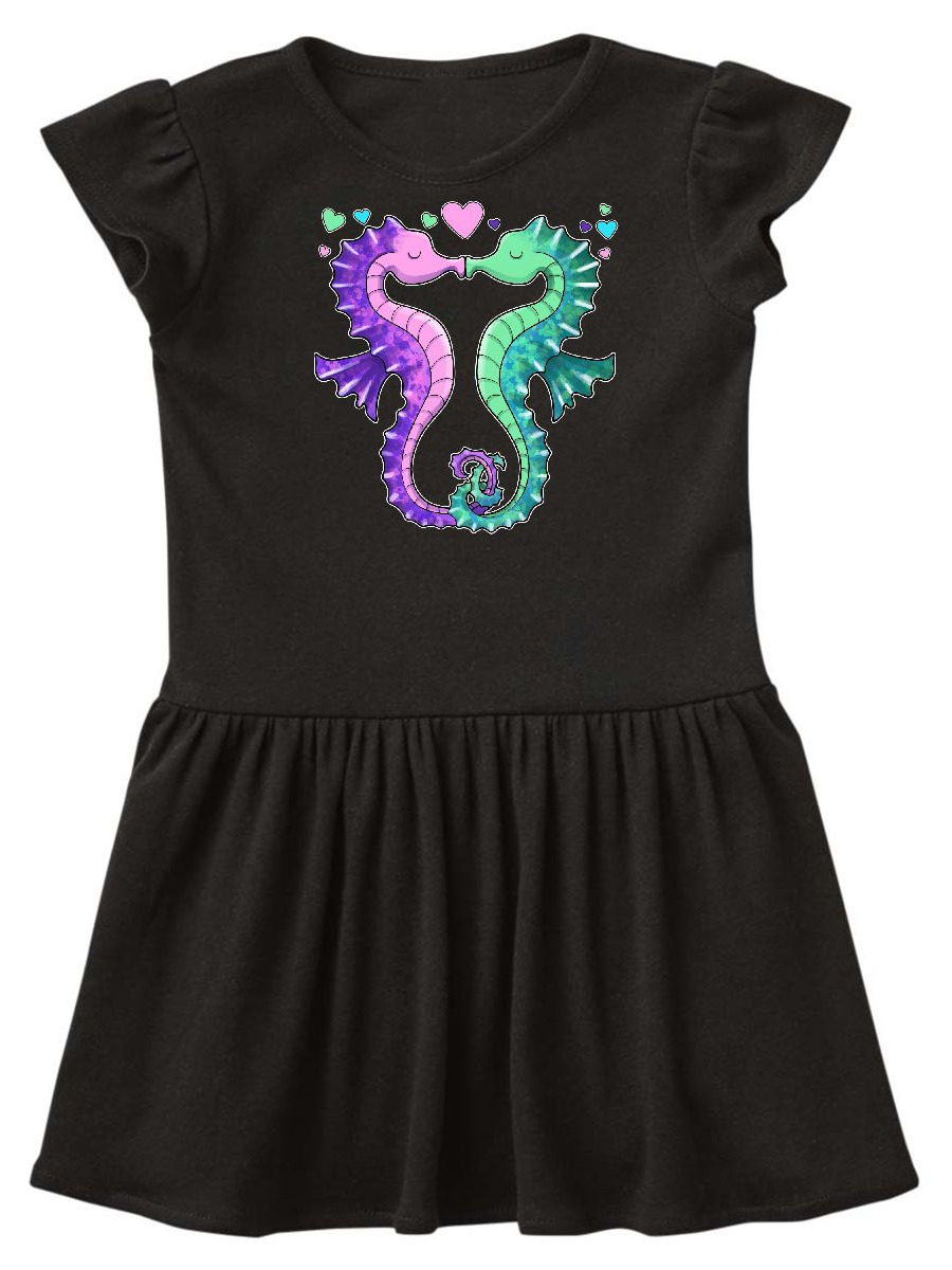 Seahorses Kissing with hearts Toddler Dress