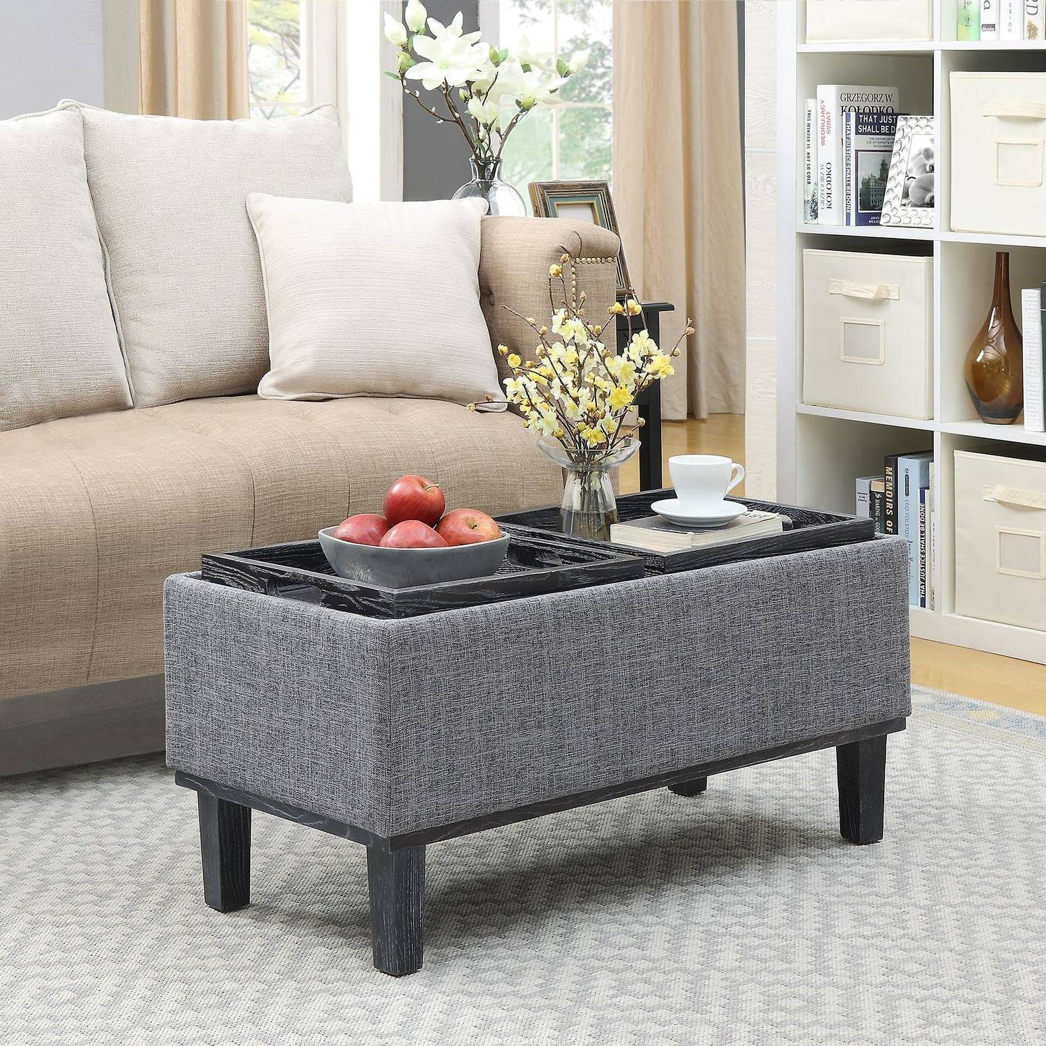 Convenience Concepts Designs4Comfort Brentwood Storage Ottoman by Generic