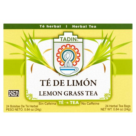 (4 Boxes) Tadin Herb & Tea Co. Lemongrass Herbal Tea, Caffeine Free, 24 Tea Bags