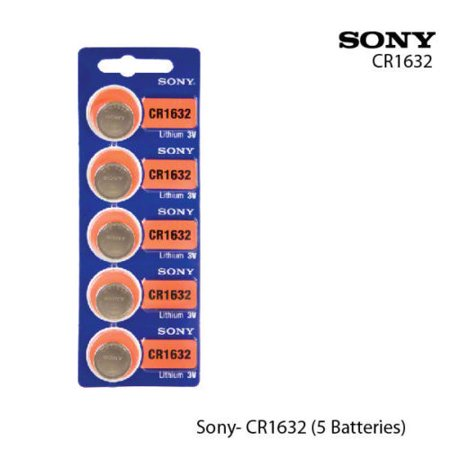 5 SONY (1 Pack) 1632 3V Lithium Coin Cell Batteries (Battery 1632 Replacement)