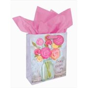 Christian Art Gifts 367884 Gift Bag Petals Of Praise Grace Peace Joy Love With Tag & Tissue Small