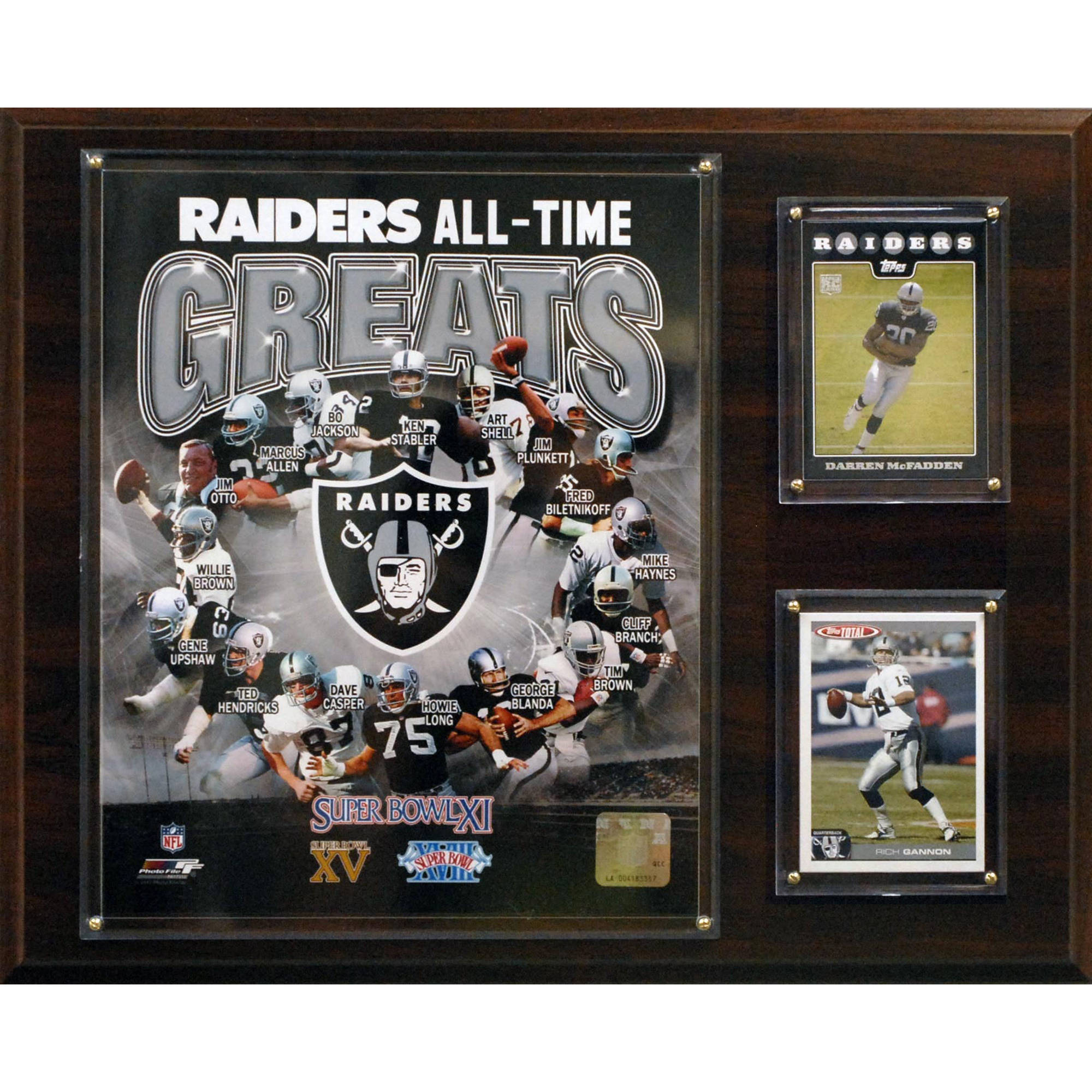 C&I Collectables NFL 12x15 Oakland Raiders All-Time Great Photo Plaque