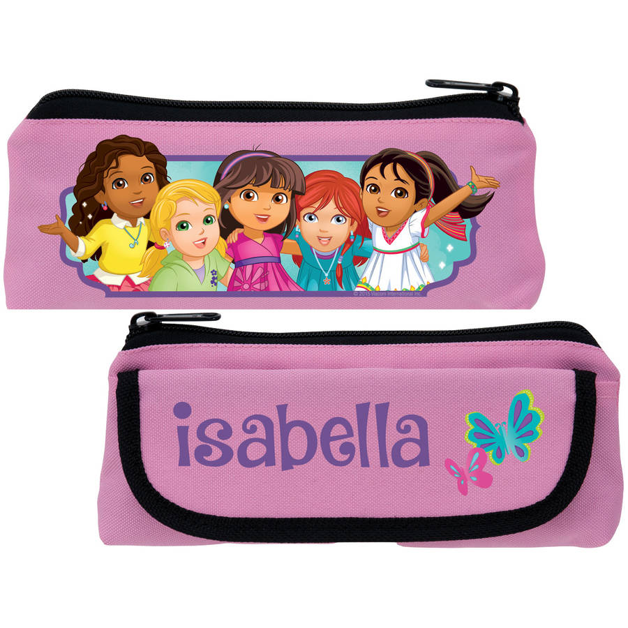 Personalized Dora and Friends Butterfly Fun Pink Pencil Case