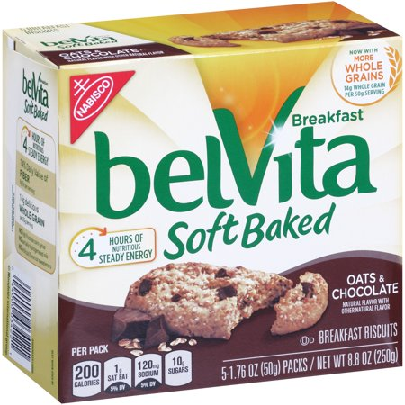 Belvita Breakfast Biscuits Soft Baked Oats   Chocolate   5 Ct
