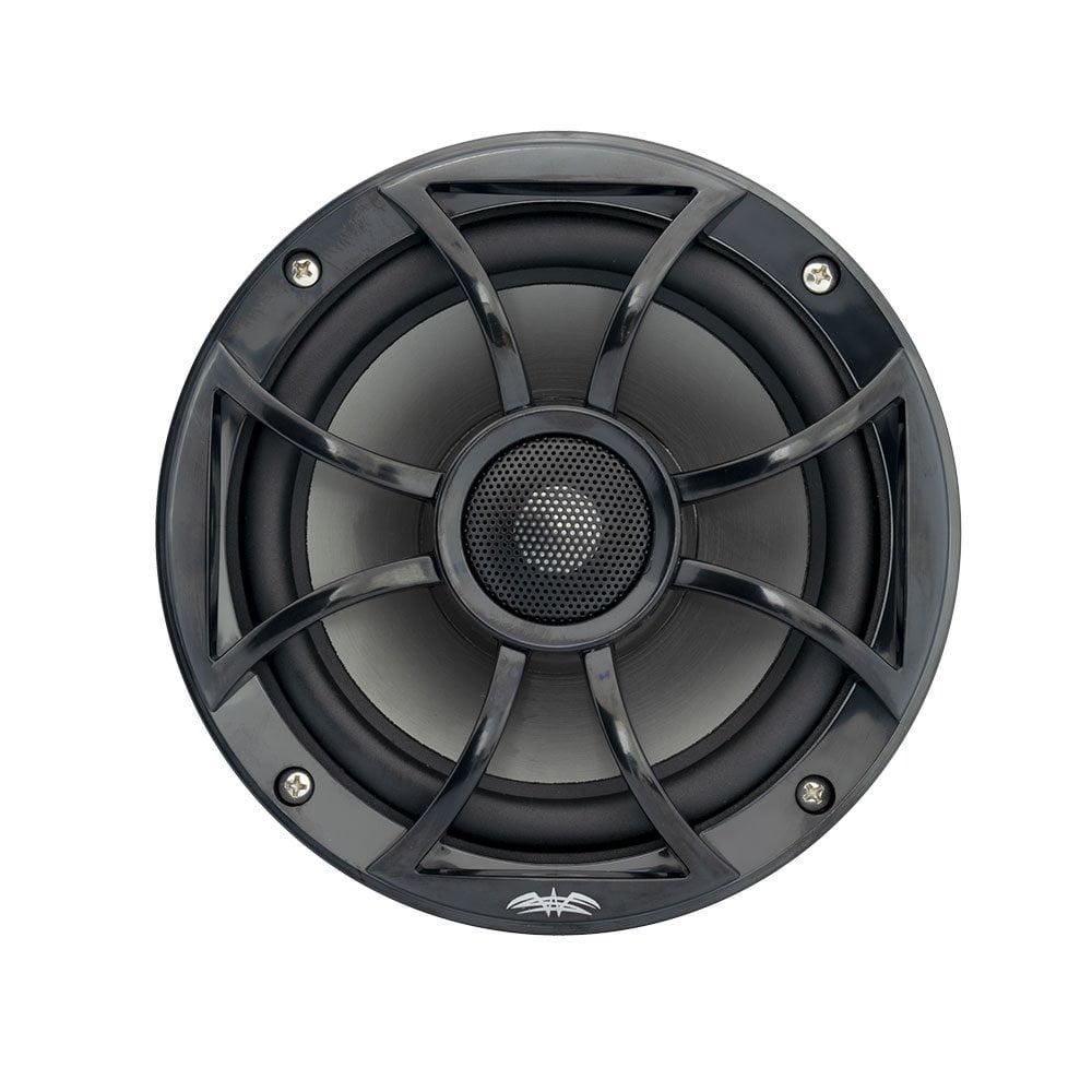 Wet Sounds Recon 6BG 6.5 Inch 2 Way Open Grille Marine Speakers in Black, Pair