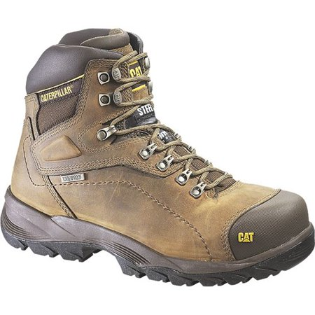 """CAT Footwear Diagnostic Hi Steel Toe - Dark Beige 10.5(W) Mens Work Boot"""