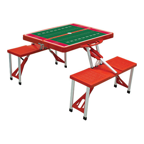 "Picnic Time Folding Table Sport Wisconsin Badgers  33.625"" x 4 x15"""