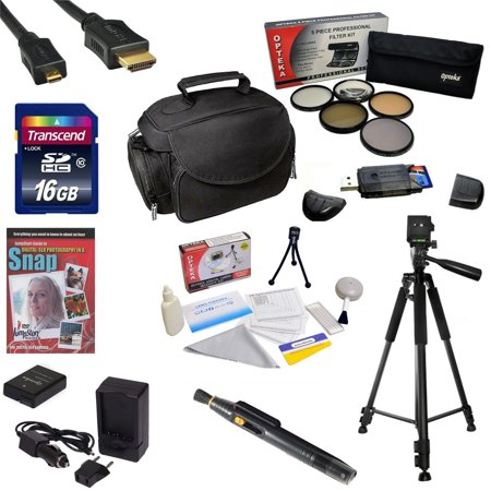 Best Value Kit for Nikon D100 D200 D300 D300s with 16GB SDHC Card, Battery, Charger, 5 Piece Pro Filter Kit, HDMI Cable, Padded Gadget Bag, Tripod, Lens Pen, Cleaning Kit, DVD, (Best Lens For Baseball)