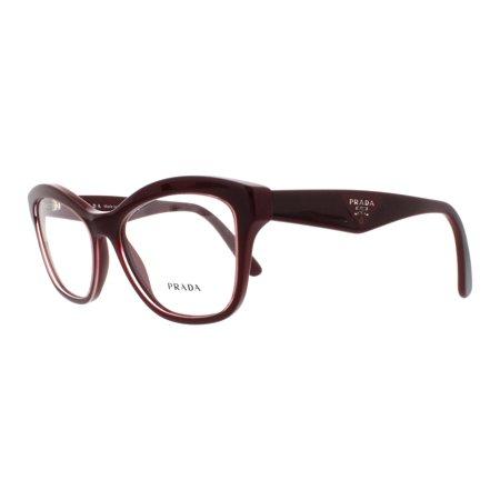 ff4fbb01aa5 PRADA Eyeglasses PR29RV UAN1O1 Opal Bordeaux On Bordeaux 54MM - Walmart.com