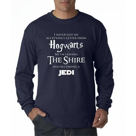 Allwitty 1064 - Unisex Long-Sleeve T-Shirt Hogwarts The Shire Jedi ()