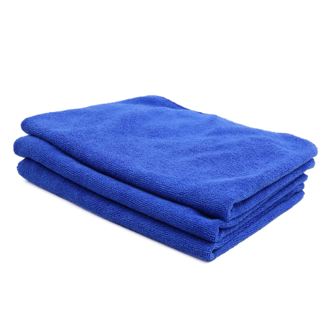 3 Pcs High Absorbing Microfiber Fabric Car Clean Cloth Towel No-scratched for Auto Car Glass Blue