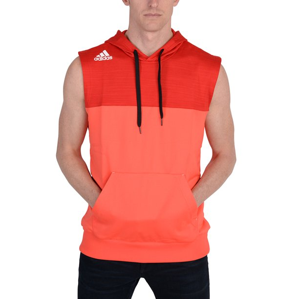 Adidas Mens Speed Sleeveless Hoodie Red
