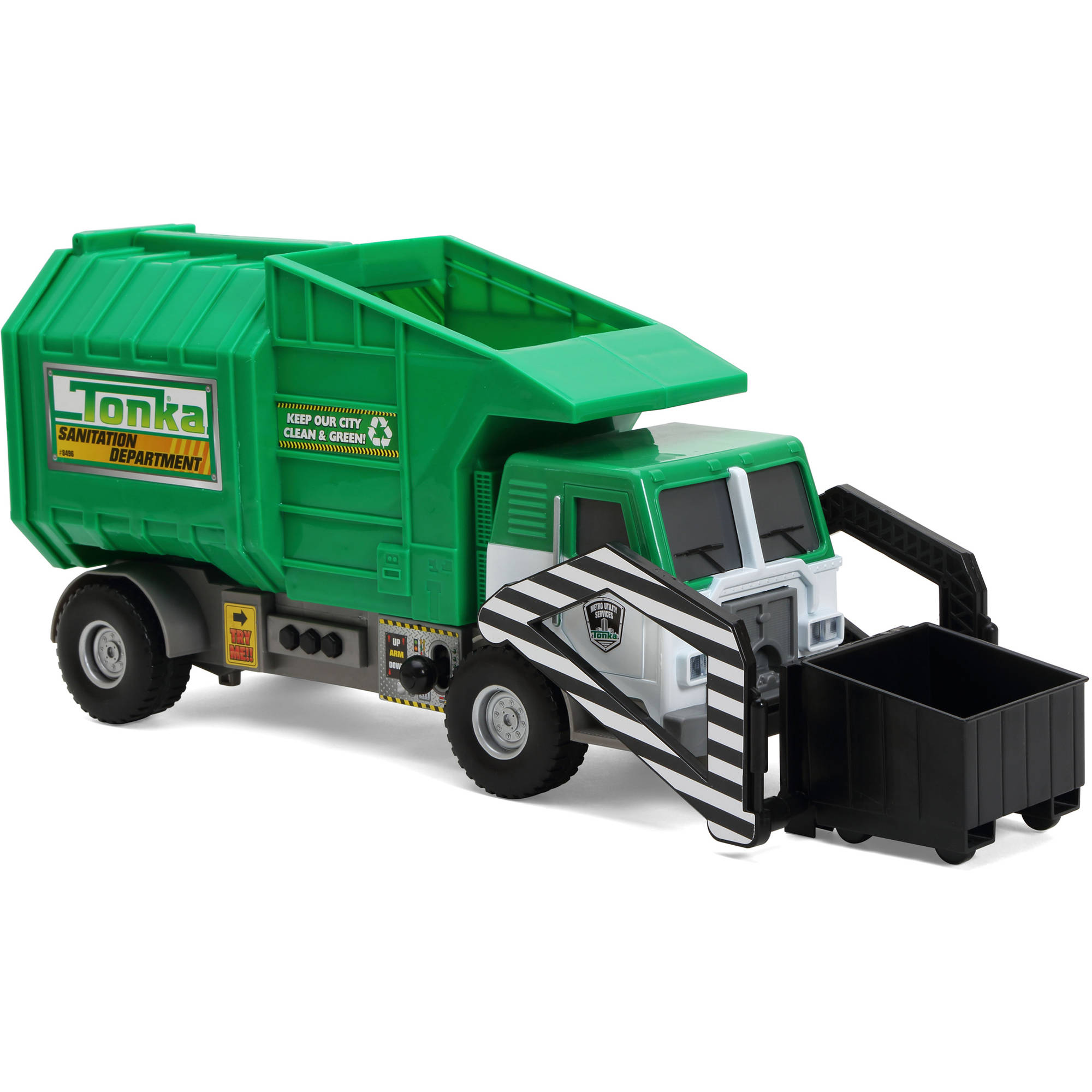 Funrise Toy Tonka Mighty Motorized Garbage Truck